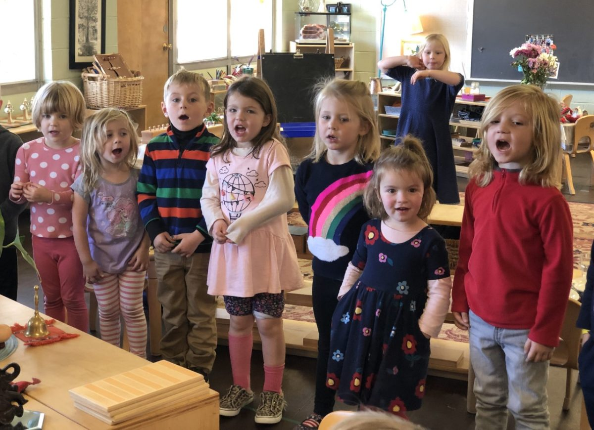 Singing in the Children's House – Getting Ready For the Winter Concert!