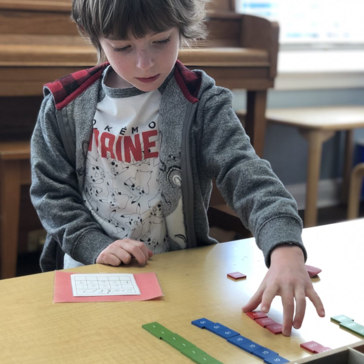 Numbers on a Page – The Addition Stamp Game!